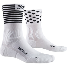 X-Socks Bike Race Calcetines, arctic white/dot/stripe